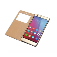 Huawei Honor 5x Case Smart Window Case 100 Genuine Leather Back Cover Case For Huawei Honor
