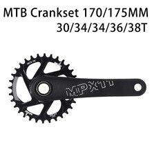 170/175mm MTB Crankset crank Chainwheel 30/32/34/36/38T 7075 chainring CNC Alu צר רחב עבור GXP XX1 X9 XO X01