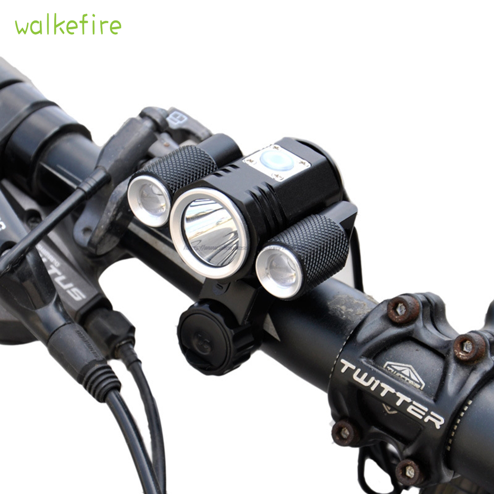 USB Rechargeable XML T6 LED Bicycle Bike Front Light Cycling Head Lamp HA