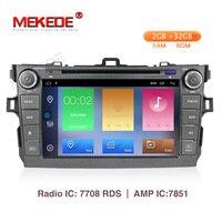 Mekede android 9,1 2 + 32g автомобильный мультимедийный плеер навигации для Защитные чехлы для сидений, сшитые специально для Toyota corolla 2007 2008 2009 2010 2011 Ав