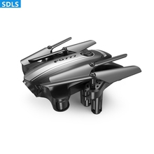 2.0MP WIFI FPV HD Camera Foldable Mini Pocket RC Drone Quadcopters RC Helicopters Set Height Hovering Auto Return FQ31W 3D Roll