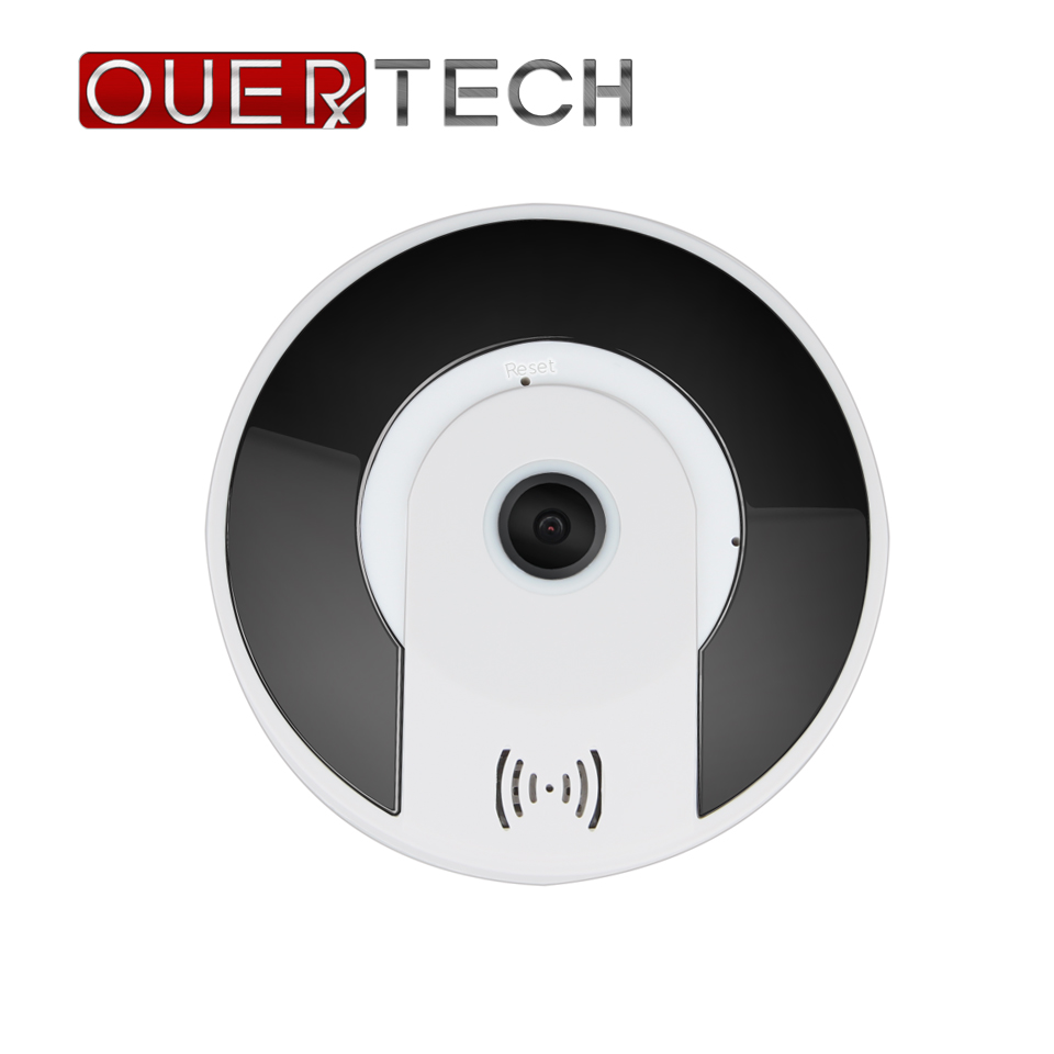 OUERTECH Full view 360 Degree Night vision real time Panoramic 1080P Fisheye Wireless Smart IP Camera support 64g app v380 image