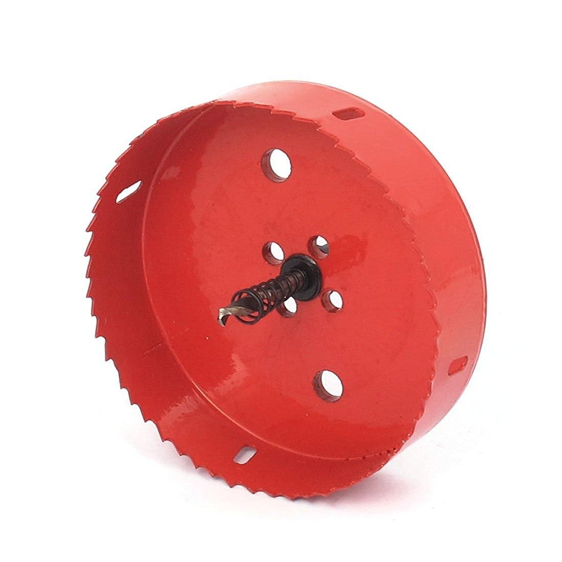 6mm Drill Bit 130mm Cutting Diameter Hole Saw Red for Drilling Wood 6mm drill bit 145mm cutting diameter