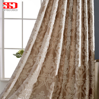 Modern Fabric Blackout Curtains For Living Room Luxury Jacquard Purple Window Blinds Drapes Panels Cortinas For