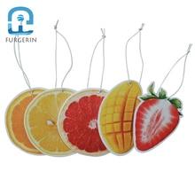 FURGERIN 10PCS Air Refresher Car refresher paper Lemon Grapefruit Orange Strawberry Mango Perfumed for home car wardrobe drawer цены