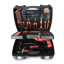 Urijk 138Pcs set three tier household drill combination hardware tools set home impact drill multi function