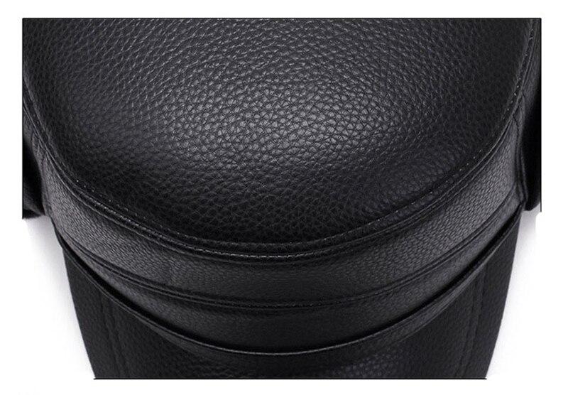 black leather ottoman 9376681361_517341466