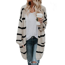 b25c57419 Grace Karin 2018 Women Loose Baggy Cardigan Coat Chunky Knitted Stripes  Lady Sweater. US  16.97   piece Free Shipping