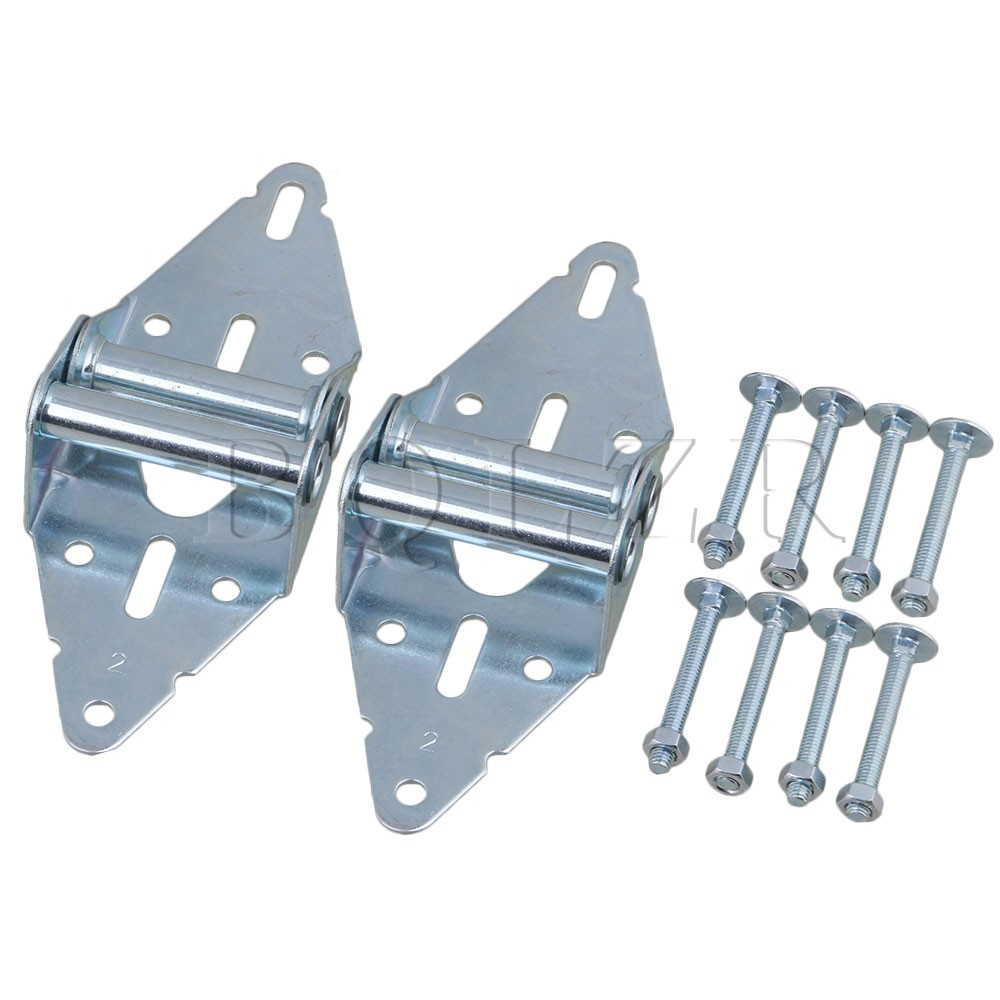 2PCS Heavy Duty Garage Door Hinges Replacement 2# Hinge with Bolt & Nut BQLZR 1 pair viborg sus304 stainless steel heavy duty self closing invisible spring closer door hinge invisible hinges jv4 gs58b