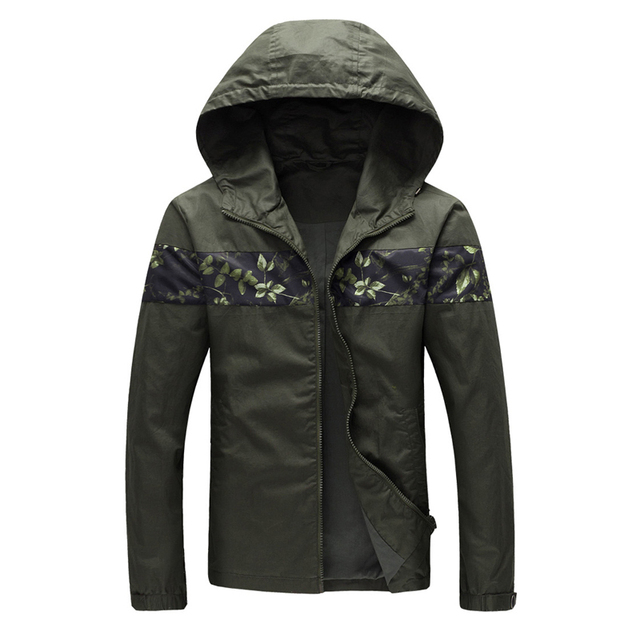 2016 New Men Spring Hooded Jackets and Coats Men's Casual Fashion Slim Fit Large Size Zipper Hooded Jackets Cardigan Coats Male