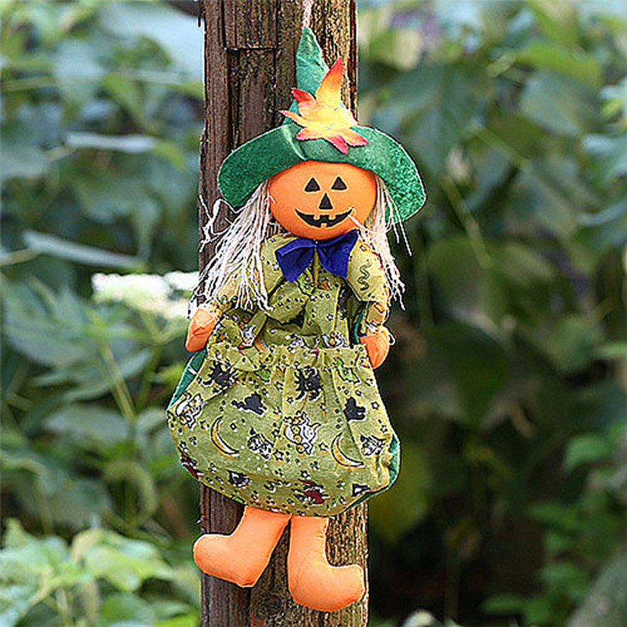 halloween doll ornaments children gifts scene decoration witch pumpkin ghost ornamentsmask30 2017 hot sale