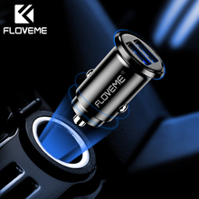 FLOVEME 3.1A/2.4A Universal Mini Dual USB Car Charger For Mobile Phone Fast Charging Car-Charger Adapter