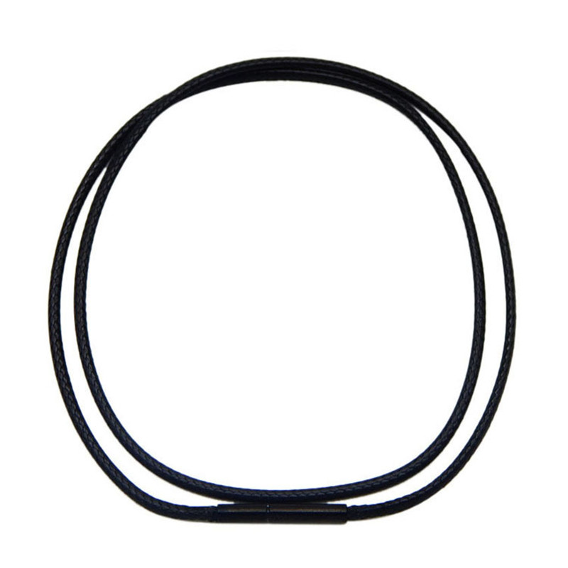 40/45/50 cm Necklace Chains Leather Cord Wax Rope Chain Black Stainless Steel Clasp Chain DIY Pendant Necklace Findings цена 2017