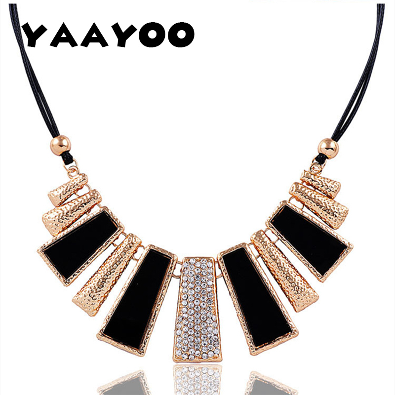 2015 New Arrival Fashion Jewelry Trendy Women Necklaces & Pendants Rope Chain Statement Necklace rectangle Pendant For Gift
