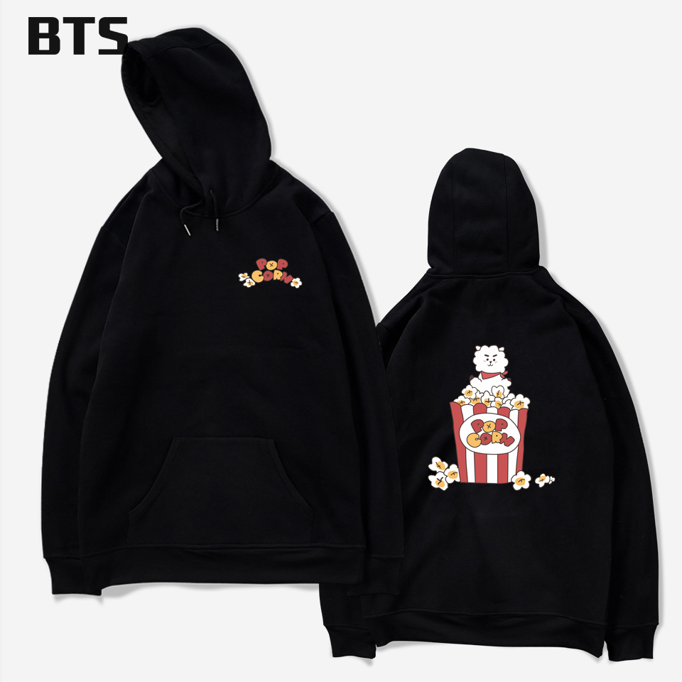 BTS Oversized Hoodie Print Bangtan Boys Kpop Jungkook Love Yourself Fashion Autumn Winter Women Hoodies Sweatshirts Kawaii 4XL