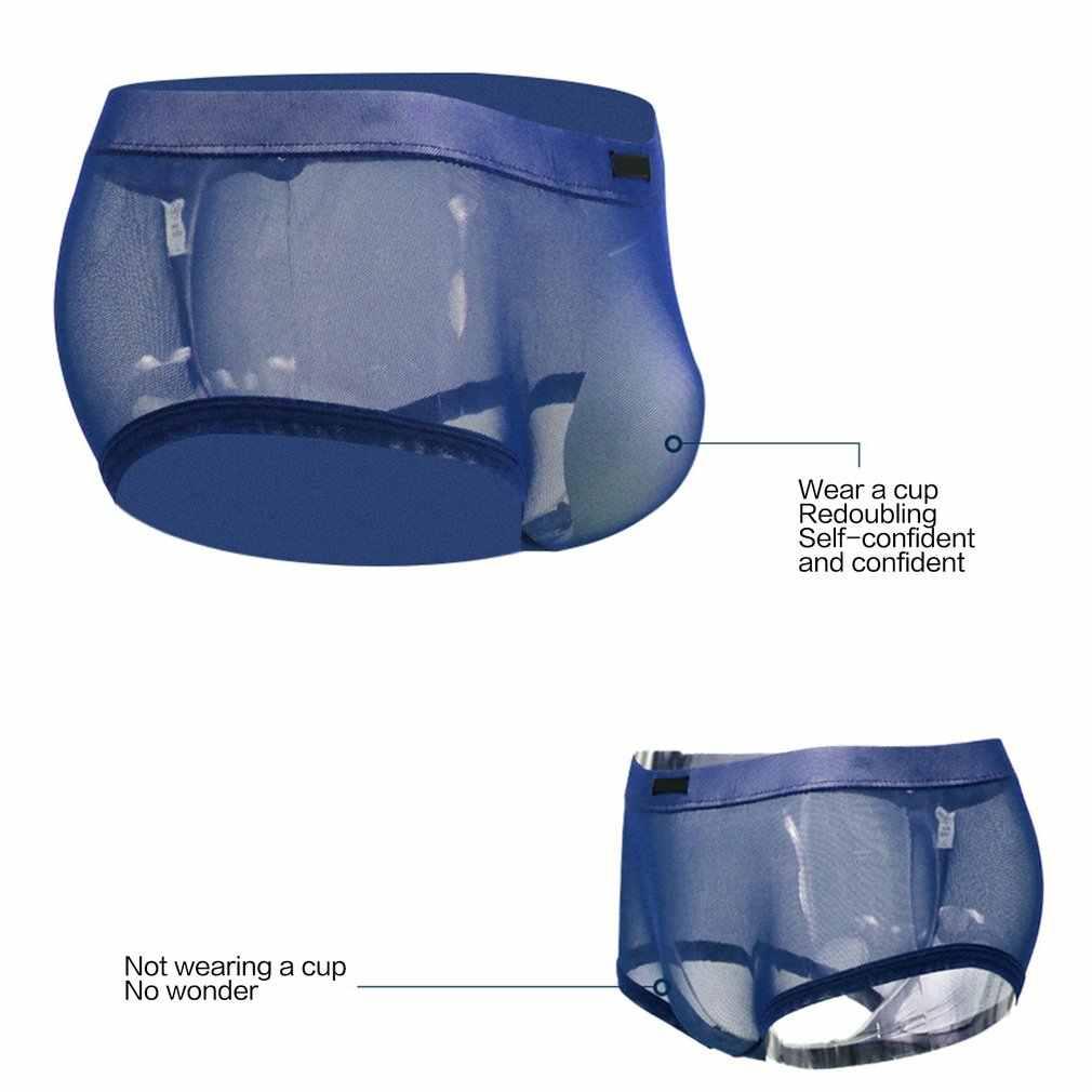 Bọt biển Cup Tăng Cường Sinh Lý Nam Quần Lót Quần Sịp Sexy Đồng Tính Dương Vật Túi Miếng Lót Trước Độn Mông Đồ Bơi Rời Push Up Cốc