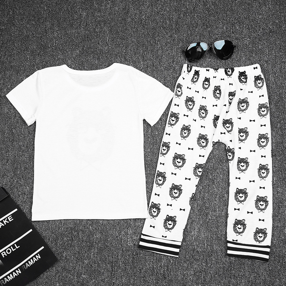 Infant Baby Clothing Sets Boy Long Sleeve T-shirt+Pant Kids Spring Autumn Outfits Set Toddler Monster Suits Baby Girls Clothes