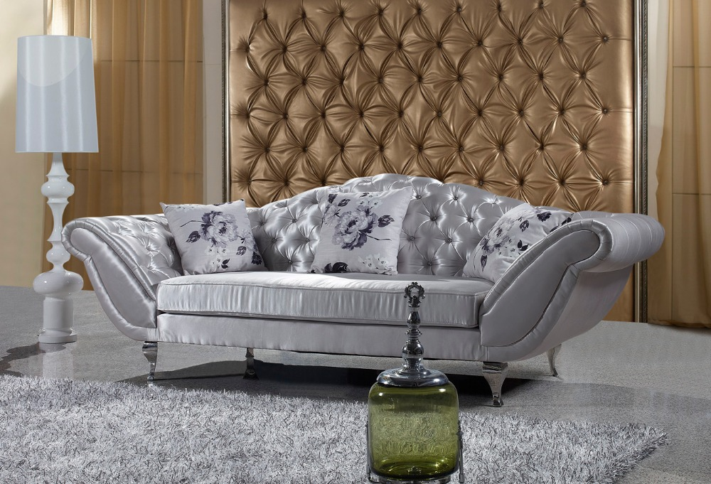 Chesterfield Antique Fabric Sofa, 3 Seater Chesterfield,Country Style  Living Room Sofa