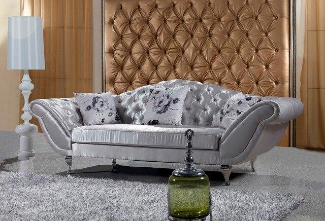 Chesterfield Antiken Stoff Sofa 3 Sitzer Chesterfield