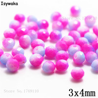 Isywaka 3X4mm 30,000pcs Rondelle Austria faceted Crystal Glass Beads Loose Spacer Round Beads for Jewelry Making NO.07