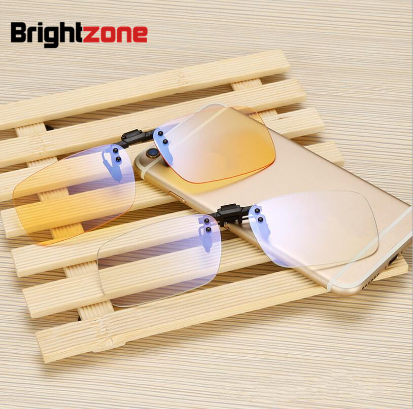 2019 New Clear & Yellow Anti-blue Rays Computer Radiation Protection Blue Light Filter Gaming Eye Comfort Glasses Clip-on Frame