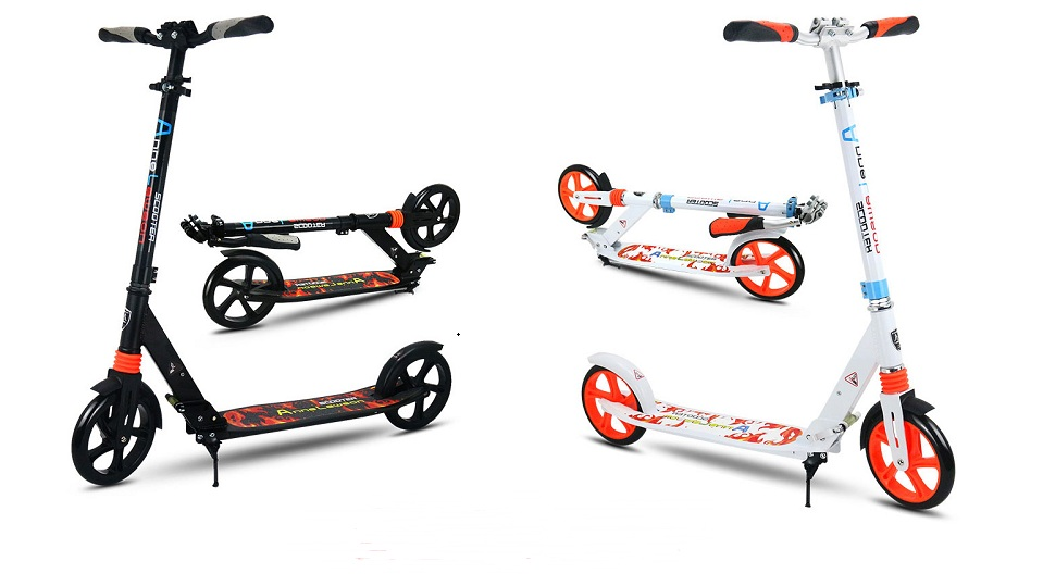 Nouveau Scooter robuste léger hauteur coup de pied Scooters réglable en alliage d'aluminium t-style pliable adultes Scooters - 6