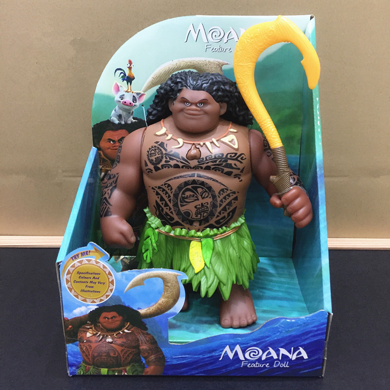 Toy Doll Figures Light Action-Toy Chick Music-Model Moana Vinyl Maui Children's And