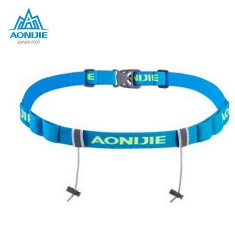 AONIJIE Marathon Triathlon Marathon Race Number Belt With Gel Holder Running Belt Cloth Belt Running Outdoor
