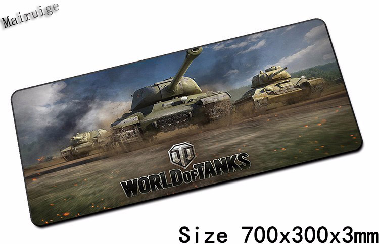 Mairuige Free Shiping 800x300 Big Size Lock Edge Gaming Mouse Pad Non-slip Table Laptop Mouse Mats for Tank of World Table Mats