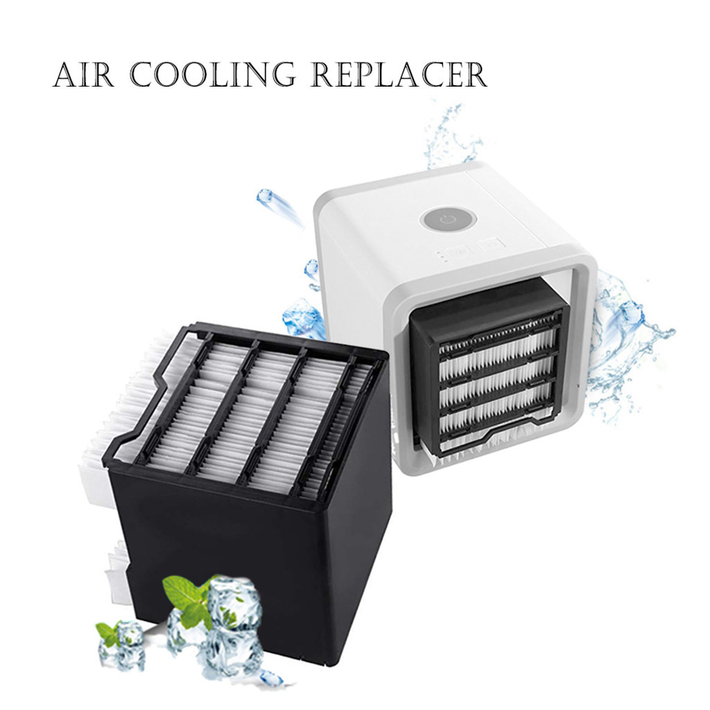 USB Mini Portable Air Conditioner Humidifier Purifier Led Light Desktop Air Cooling Fan Cooler Fan For Office Home HVAC Systems