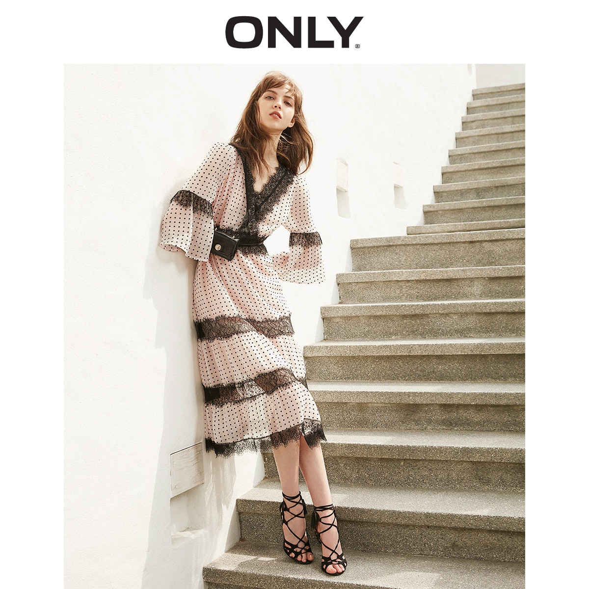 ONLY  Spring Summer New Laced Chiffon Dress |119107681