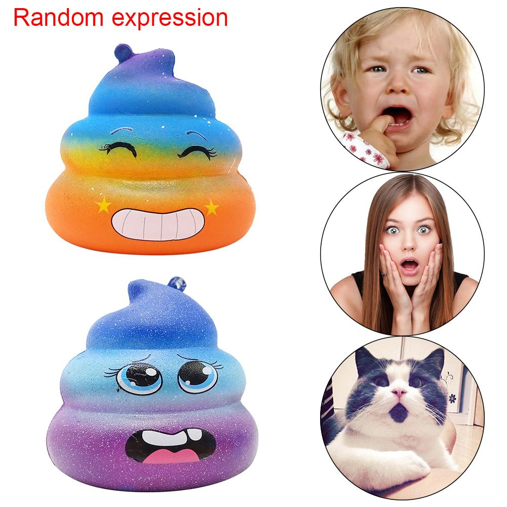 Slow Rebound Toy Large Size Starry Sky Colorful Simulated Excrement Shape Stress Reliever Toy Venting Toy