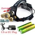 Zoomable  8000LM 3x XM-L T6 LED Headlight 8000 Lumen Head Lamp Flashlight Torch Lanterna Headlamp+Battery/Charger