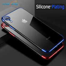 Plating Case on For iPhone 8 Case  For Apple iPhone8 Case Silicon 6 6s 7 8 Plus X XR XS Max 5 5s SE Case Protective Bumper Cover