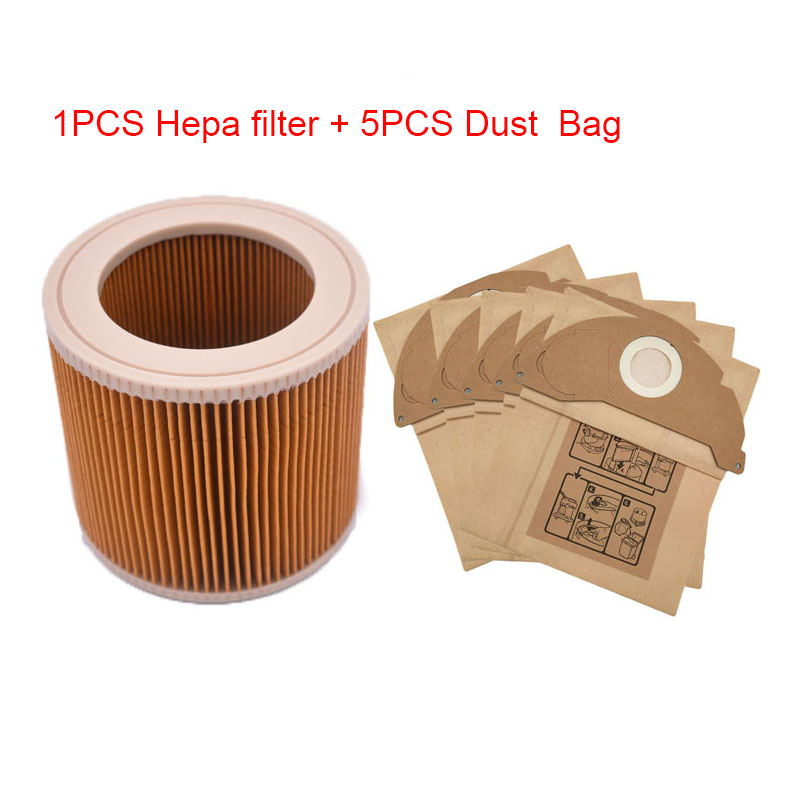 Cleaning Appliance Parts 1pcs Replacement Filter For Karcher A2004/ A2054/ Wd3.300 Vacuum Hoover Cleaner Cartridge Filter With Cap For Kar64145520 Filter Durable Service Vacuum Cleaner Parts