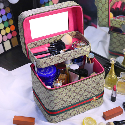 2019! top selling!portable cosmetic bag large capacity makeup bag red nice