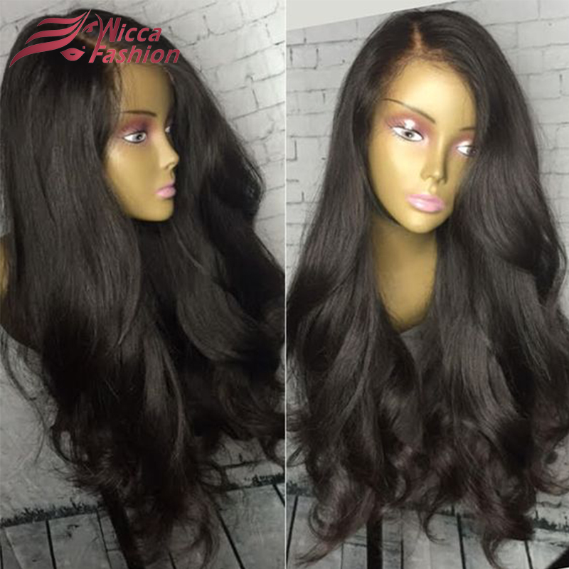 98291908aa6 US $154.0 |Top 8A Thick Hair Natural Wave Density 180% Full Lace Wigs Raw  Indian Remy Human Hair Full Density Glueless Lace Front Wigs-in Human Hair  ...