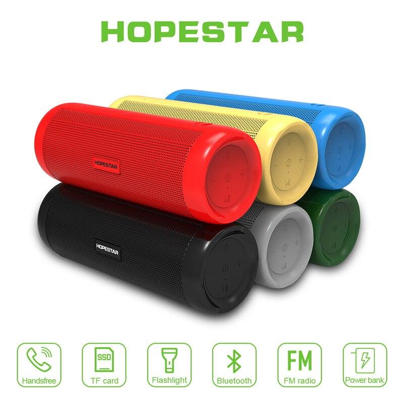 HOPESTAR P4 outdoor Wireless Bluetooth Speaker Outdoor Waterproof Card Multifunction Lighting with Lanyard