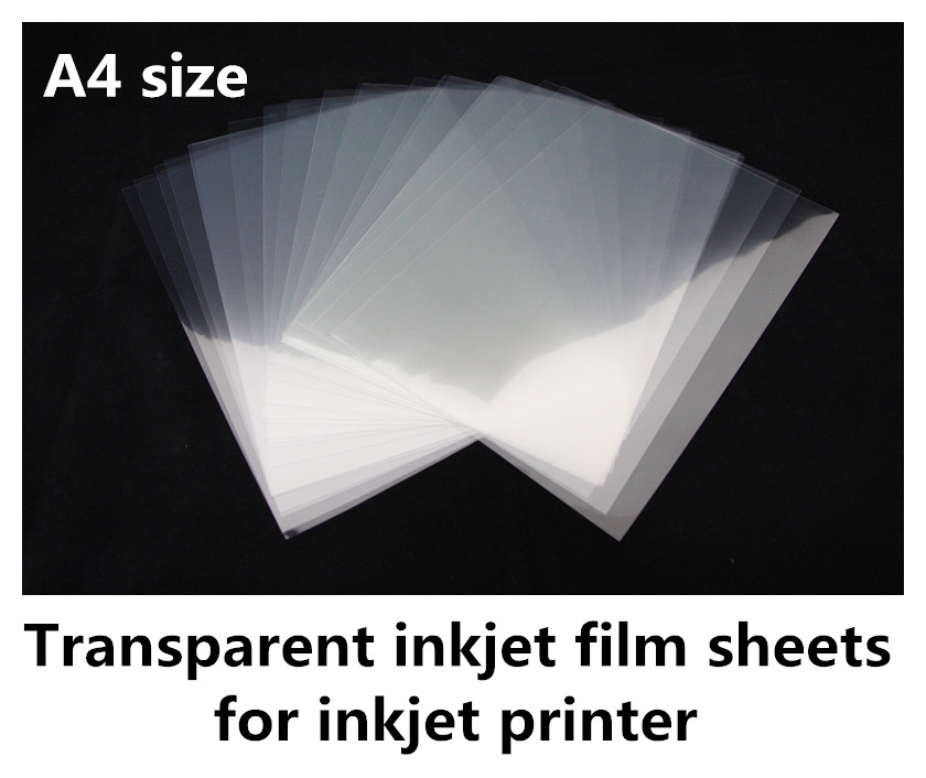 10pcs A4 Clear Inkjet Laser Printing Paper Transparency DIY Film Photographic US