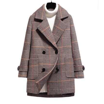 Mode frauen retro plaid woolen mantel weiblichen Koreanischen version 2019 beliebte plaid mantel herbst und winter kurze mantel MS Dünne fit