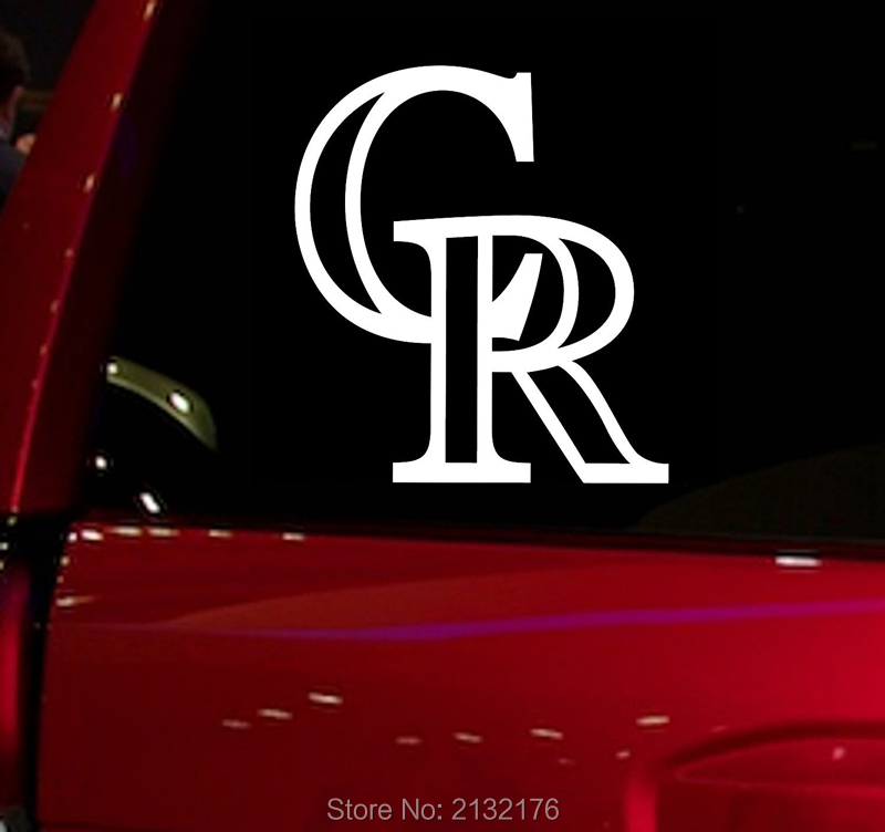 Rockies CR baseball game Auto Window Sticker Decal for Car Truck Suv Decal 5.5 Car Window Vinyl Die Cut Sticker White