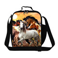 Horse Insulated Lunch Cooler Kids Cool Animal Lunch Box Bags Mens Work Lunch Container Panda Insulated Food Bag for Girls School