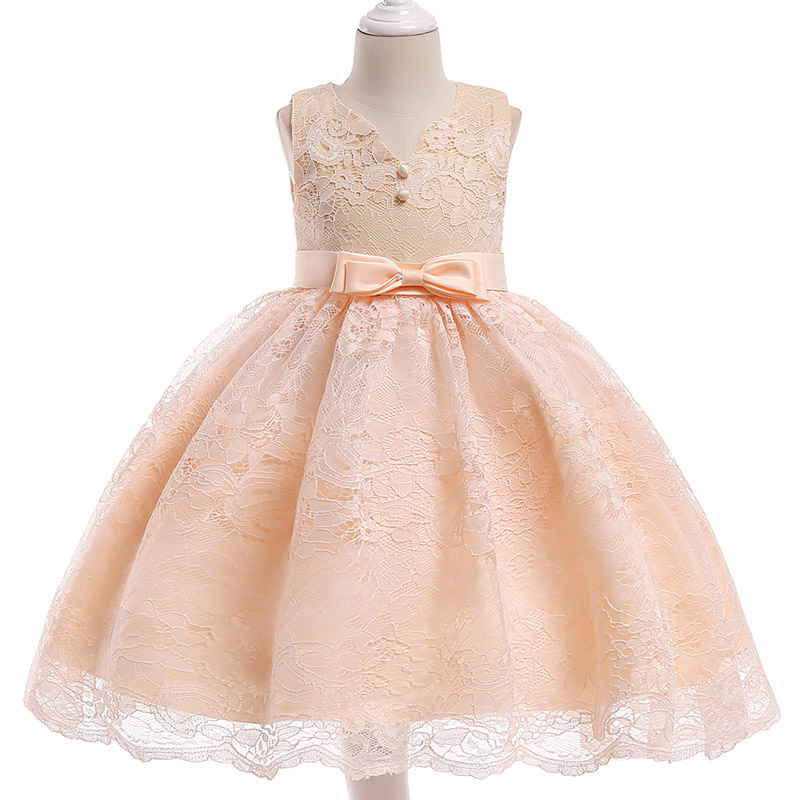 Summer clothing   Flower     Girl     Dress   Wedding   Flower   Lace   Girl's   Birthday Princess Party   Dress   Child Communion   Dress   3-10 Years