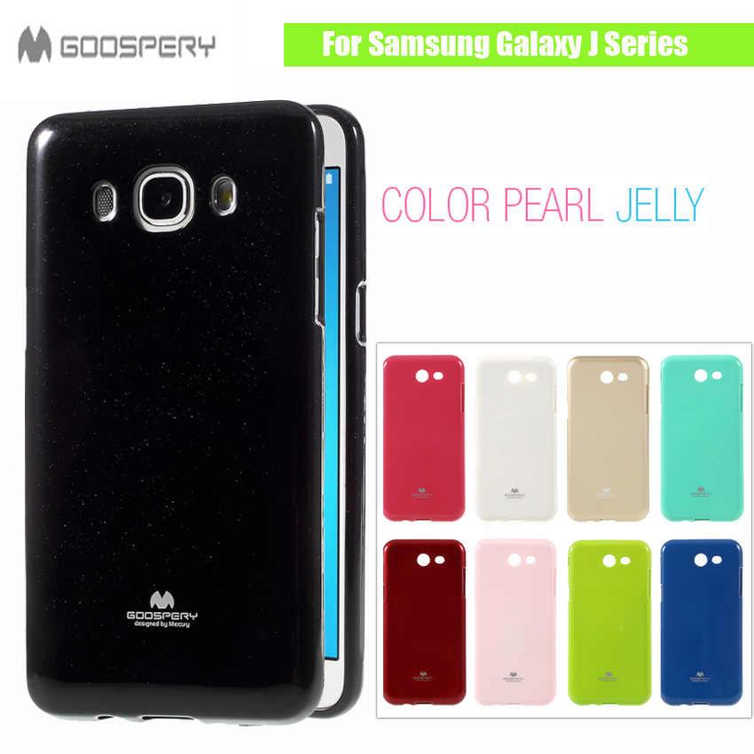 Original MERCURY GOOSPERY for Samsung Galaxy J1 ACE J1mini J2 J3 J5 J7  Prime 2016 Flash Powder Jelly Soft TPU Black Phone Case
