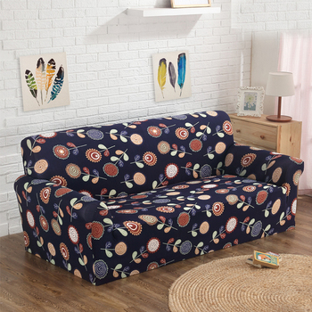 Different Plant Pattern Flower Printed Sofa Cover Polyester Spandex Stretch  Cloth Art Slipcover Floral Sofa Cover