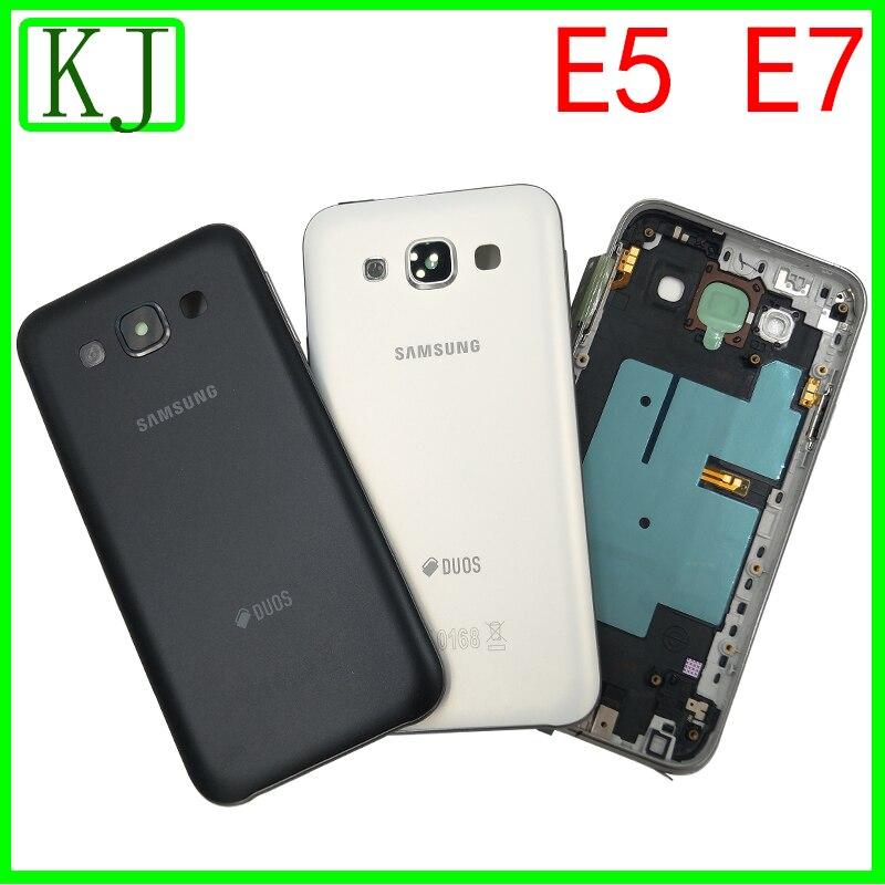 Boîtier d'origine complet pour Samsung Galaxy Grand DUOS E5 E500 E7 E700 cadre moyen plaque batterie couvercle arrière boîtier de boîtier milieu