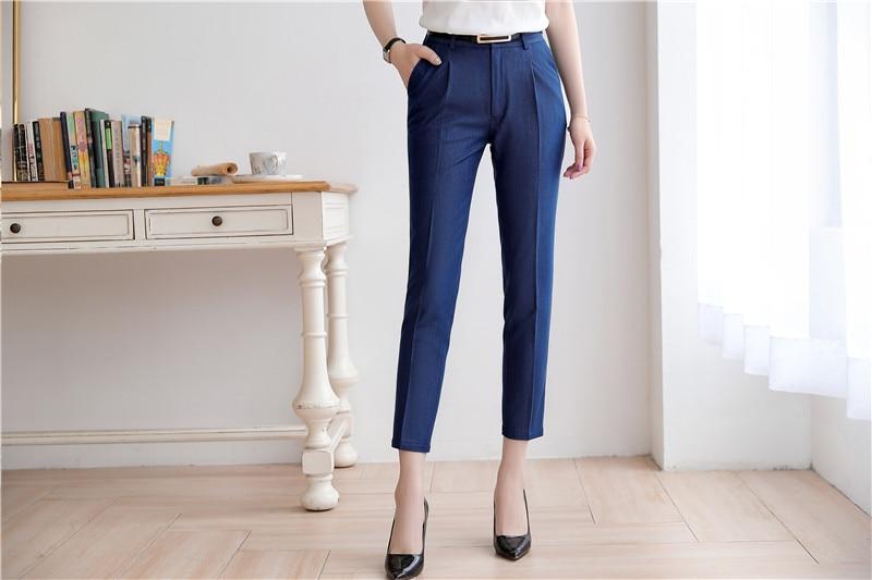 2019 Spring and Summer New Women's Trousers Korean Styles Temperament OL Slim Leisure professional   Pants     Capris