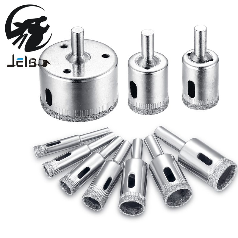 Jelbo Drill Bit Set 10pcs Mini Metal Hole Saw Power Tools Drill Bit Metal Glass Drill Tools Ceramic Tile Marble Hole Opener jelbo 3pc step drill hole countersink cone cutting tools drill bit set for wood metal power tools set hole cutter power tools