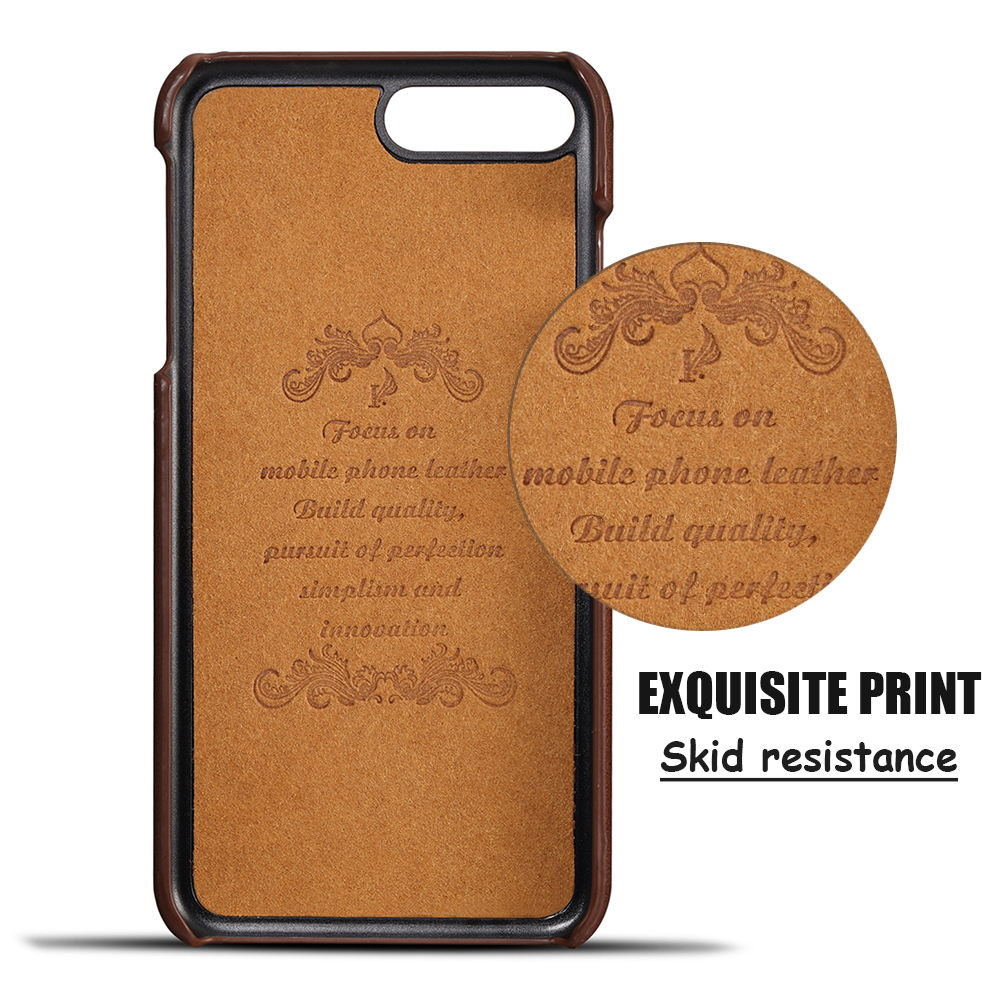 KIP7P1158_5_Slim Leather Back Cover For iPhone 7 8 Cow Case Ultra Thin Wallet Card Holder Back Covers For iPhone 7 Plus 8 Plus