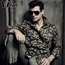 V JEAN Men's Long Sleeve Ranger Camouflage Shirt #2A291